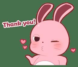 Sticker for conversations of rabbit sticker #4828444