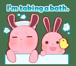 Sticker for conversations of rabbit sticker #4828457
