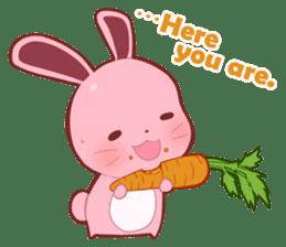 Sticker for conversations of rabbit sticker #4828461