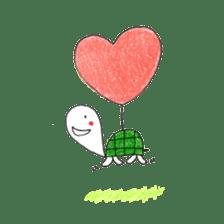 Free&Happy  Turtle.(English) sticker #4830706