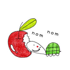 Free&Happy  Turtle.(English) sticker #4830716