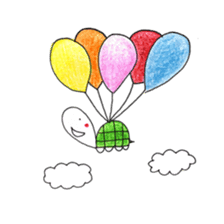 Free&Happy  Turtle.(English) sticker #4830720