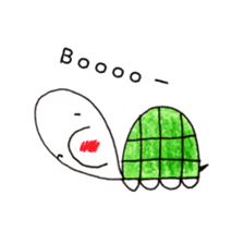 Free&Happy  Turtle.(English) sticker #4830725