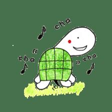 Free&Happy  Turtle.(English) sticker #4830728