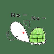 Free&Happy  Turtle.(English) sticker #4830730