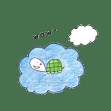 Free&Happy  Turtle.(English) sticker #4830731