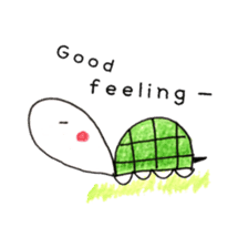 Free&Happy  Turtle.(English) sticker #4830732