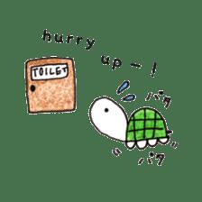 Free&Happy  Turtle.(English) sticker #4830733