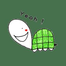 Free&Happy  Turtle.(English) sticker #4830734