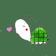 Free&Happy  Turtle.(English) sticker #4830736