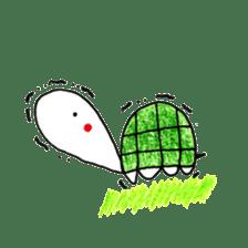 Free&Happy  Turtle.(English) sticker #4830737