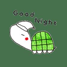 Free&Happy  Turtle.(English) sticker #4830743