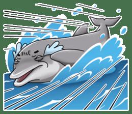 Annoyed dolphin sticker #4844027
