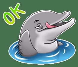 Annoyed dolphin sticker #4844029
