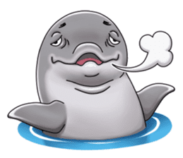 Annoyed dolphin sticker #4844032