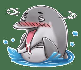 Annoyed dolphin sticker #4844034