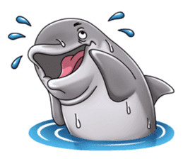 Annoyed dolphin sticker #4844039
