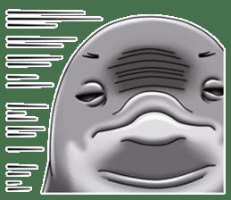 Annoyed dolphin sticker #4844043