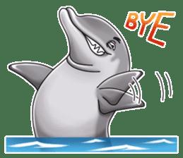 Annoyed dolphin sticker #4844044
