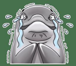 Annoyed dolphin sticker #4844045