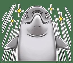 Annoyed dolphin sticker #4844046