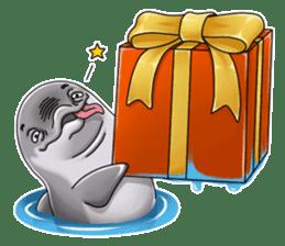 Annoyed dolphin sticker #4844050