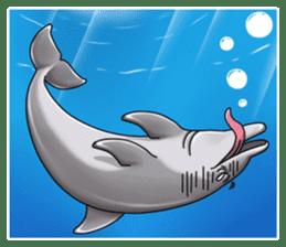 Annoyed dolphin sticker #4844051