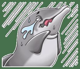 Annoyed dolphin sticker #4844052