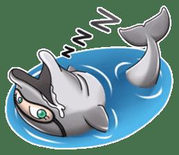 Annoyed dolphin sticker #4844056
