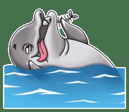 Annoyed dolphin sticker #4844059