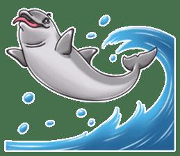 Annoyed dolphin sticker #4844060