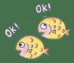 Friends of the sea! sticker #4847928