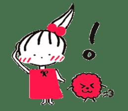 Tellas's Ringo-chan & Puppu 01 sticker #4854026