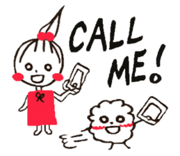 Tellas's Ringo-chan & Puppu 01 sticker #4854041