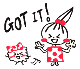 Tellas's Ringo-chan & Puppu 01 sticker #4854045