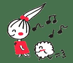Tellas's Ringo-chan & Puppu 01 sticker #4854054