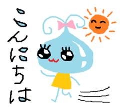 Pretty girl of water drop sticker #4854906