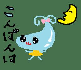 Pretty girl of water drop sticker #4854907