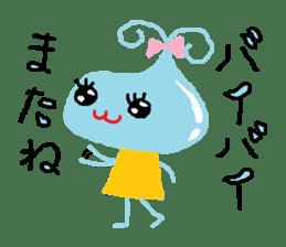 Pretty girl of water drop sticker #4854910