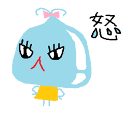 Pretty girl of water drop sticker #4854915