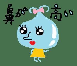 Pretty girl of water drop sticker #4854937
