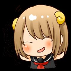 "Round horn ""Yagiko-san"""