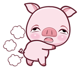 Lovely Piggy Doll sticker #4863051