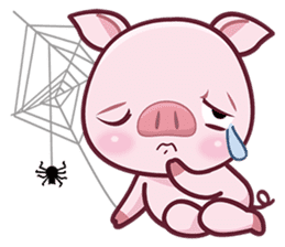 Lovely Piggy Doll sticker #4863052