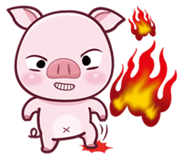 Lovely Piggy Doll sticker #4863058