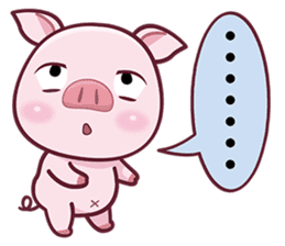 Lovely Piggy Doll sticker #4863060