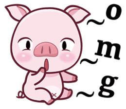Lovely Piggy Doll sticker #4863065