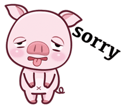 Lovely Piggy Doll sticker #4863071