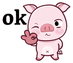 Lovely Piggy Doll sticker #4863073