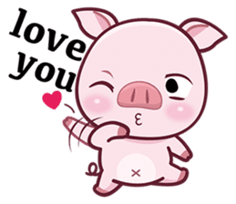Lovely Piggy Doll sticker #4863079